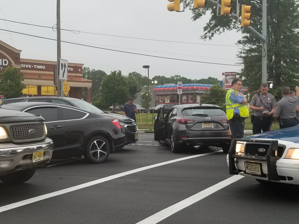 A multi-car hit-and-run accident on Route 37, May 29, 2019. (Photo: TRPD)