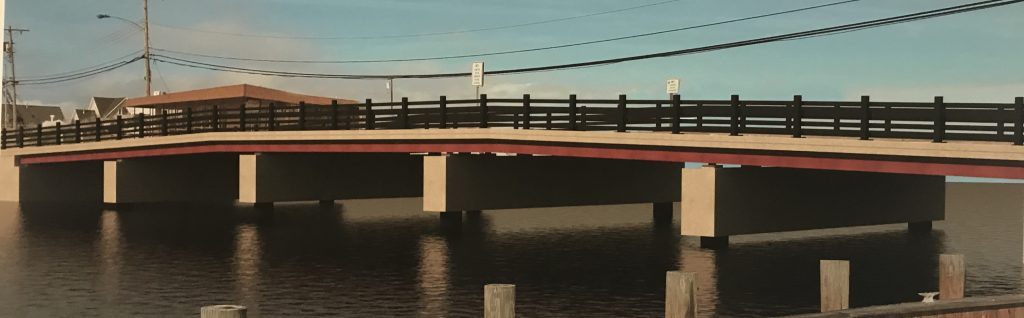 A rendering of the replacement of the Chadwick Island Bridge in Toms River. (Photo: Daniel Nee)