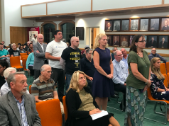 A hearing on a resolution opposing a 'Sanctuary State' policy at the Toms River Township council meeting. (Photo: Daniel Nee)