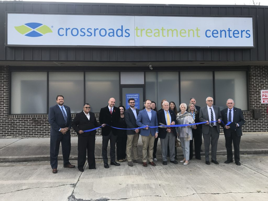 Officials attend the opening ceremony for Crossroads Treatment Centers in Toms River. (Photo: Daniel Nee)