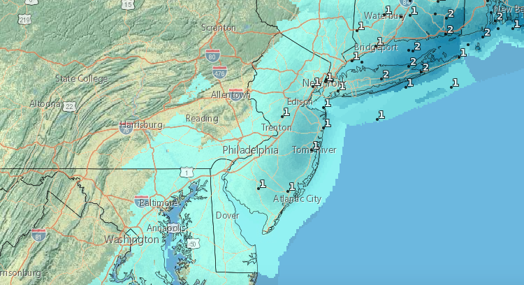 Expected snow totals for Dec. 11, 2019. (Credit: NWS)