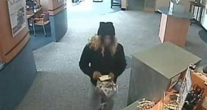 Surveillance footage of a bank robbery in Toms River, N.J., Jan. 23, 2020. (Photo: TRPD)