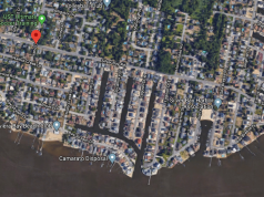 Silver Bay Road, one of the streets planned to be elevated by Toms River Township. (Credit: Google Maps)
