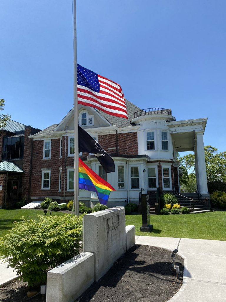 Pride Flag Raising, June 2020. (Photo: Evan Phalon)