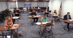 The Toms River Regional school board meetings virtually, July 30, 2020. (Screenshot)