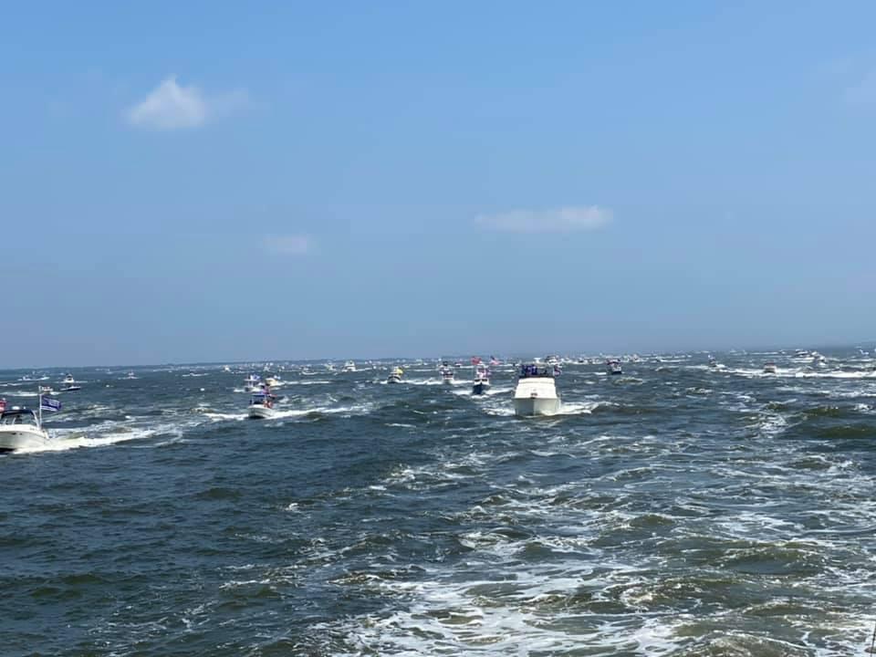 Pro-Law Enforcement/Trump Boat Parade, July 5, 2020 (Photo: Virginia Kutsop)