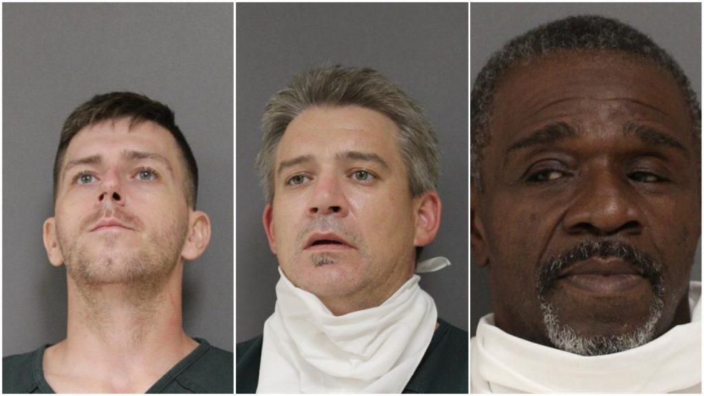 William Needham, Daniel Dornbierer and Ricky Galloway. (Photos: Ocean County Jail)