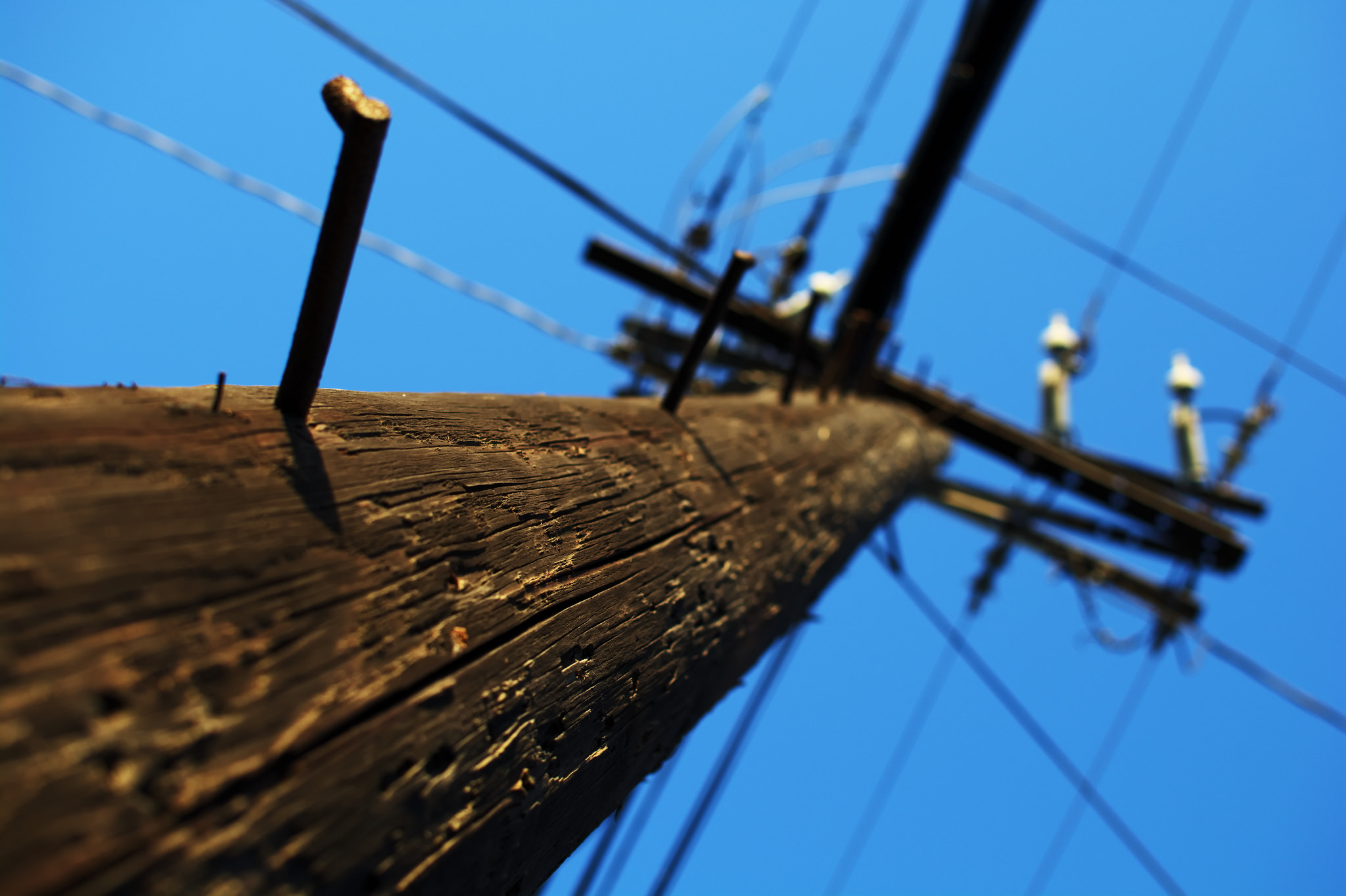 Utility/Electrical pole. (Credit: Maëlick/Flickr)