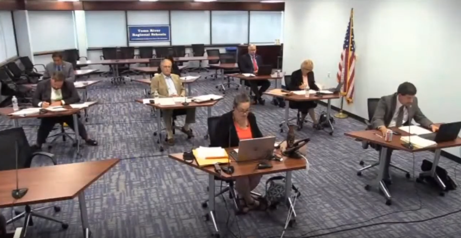 Toms River Regional school board members meet in a videoconference meeting, Sept. 30, 2020. (File Photo)