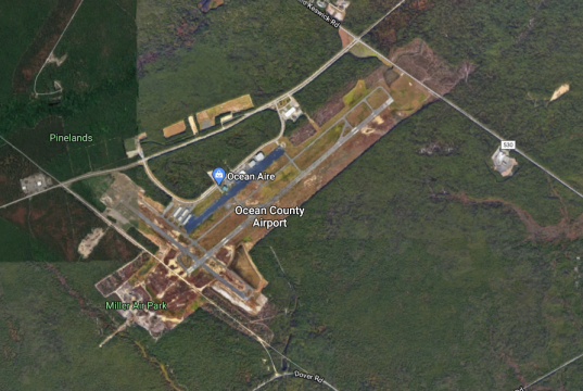 Ocean County Airport (Credit: Google Maps)