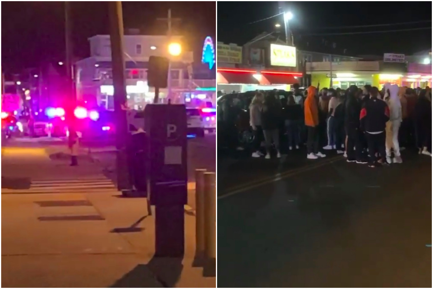 Crowds in Seaside Heights after the Nelk Boys promoted an appearance online, Sept. 15, 2020. (Supplied Photo)
