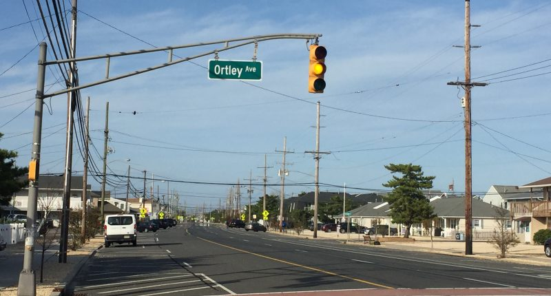 A traffic light on Route 35 North in Ortley Beach flashes, Oct. 19, 2020. (Photo: Daniel Nee)