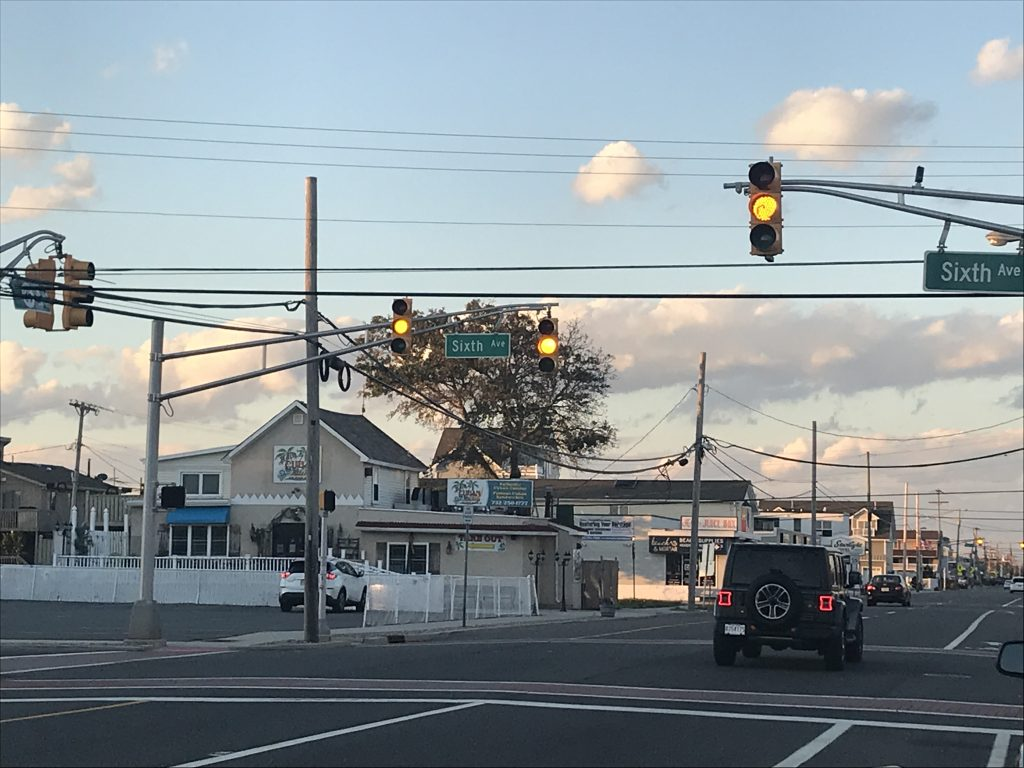 The intersection of Sixth Ave. and Route 35 north in Ortley Beach. (Photo: Daniel Nee)