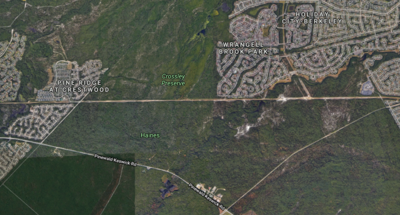 The area where a body was found Oct. 24, 2020. (Credit: Google Maps)