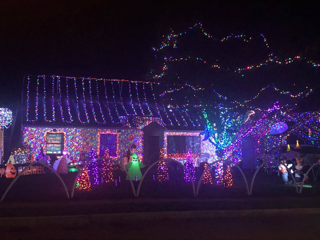 The home of the Ferone family in Toms River, known for stunning light displays. (Photo: George Galesky)