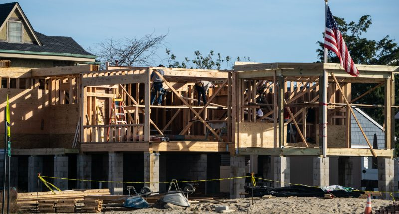 A new home being constructed in Ortley Beach, Oct. 2020. (Photo: Daniel Nee)
