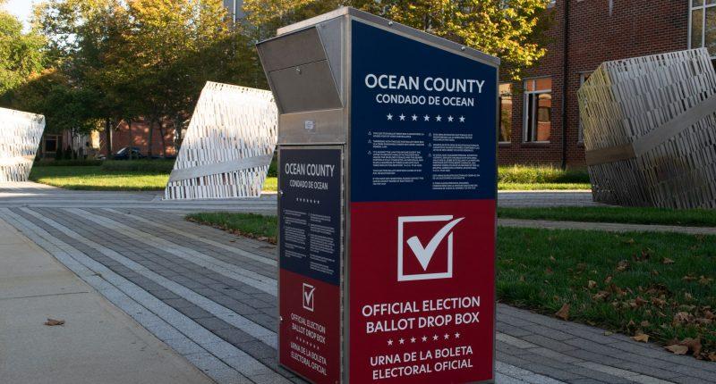An Ocean County ballot drop box for the 2020 election. (Photo: Daniel Nee)