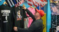 Justin Forster at his Trump Store in Toms River, N.J. (Photo: Daniel Nee)