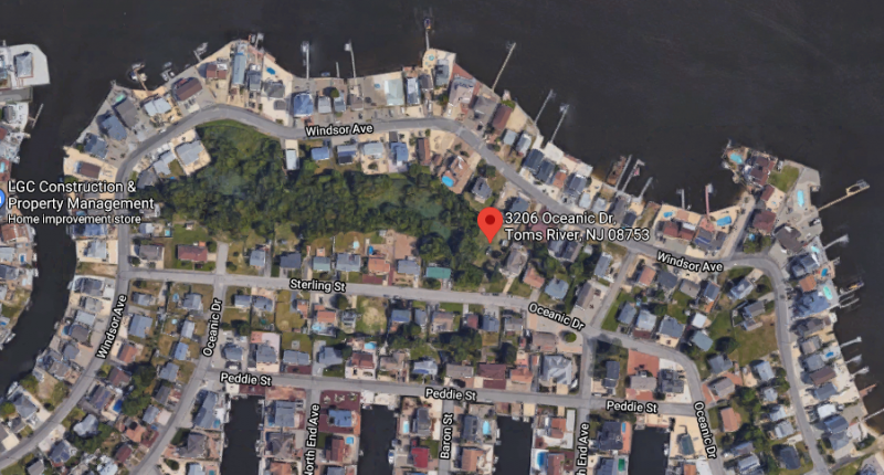 The site where four homes are being proposed in the Windsor Park neighborhood. (Credit: Google Maps)