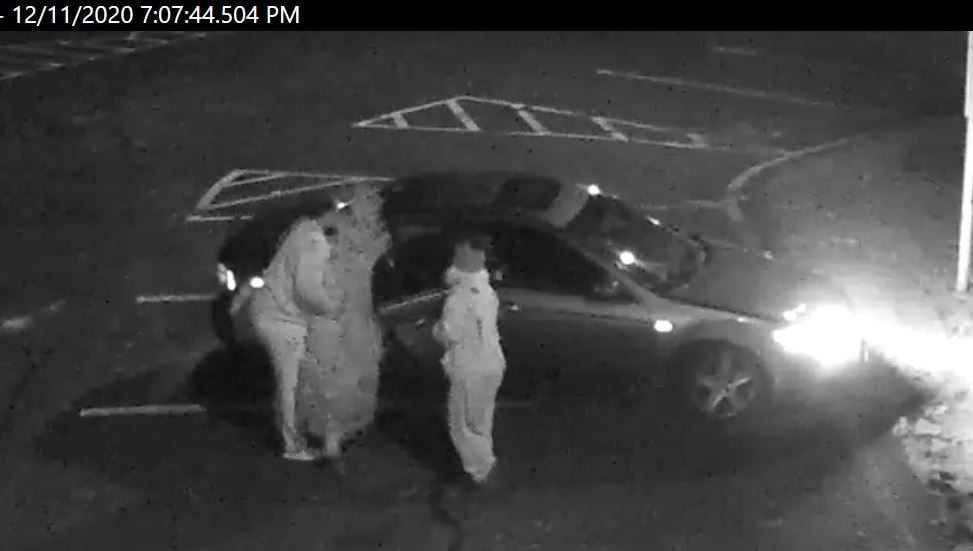 Surveillance photos of a theft of Christmas trees at the Silverton Fire Company, Dec. 2020. (Photo: TRFD)
