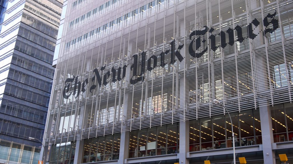 The New York Times building, New York. (Credit: samchills/ Flickr)