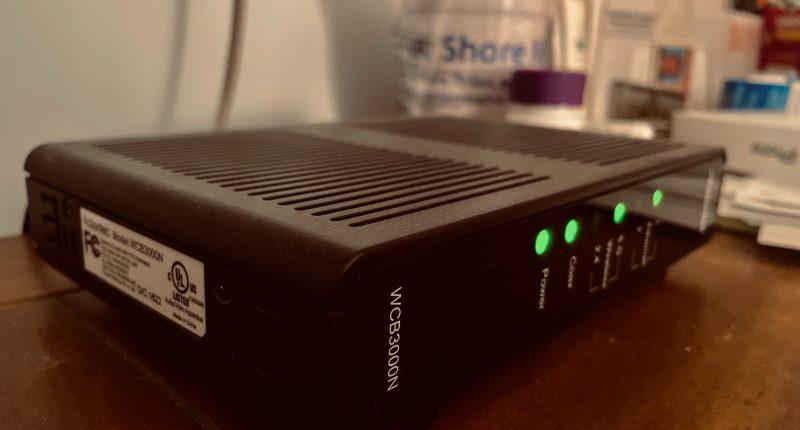 Cable modem/router. (Photo: Daniel Nee)