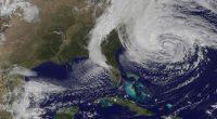 A satellite image of Hurricane Sandy in 2012. (Credit: NASA)