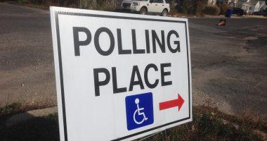 An Ocean County, N.J. polling place sign. (Photo: Daniel Nee)