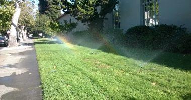 Lawn sprinkler. (Credit: Jannerfer An/ Flickr)