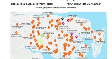 The map of the May 2021 Silverton Community Yard Sale