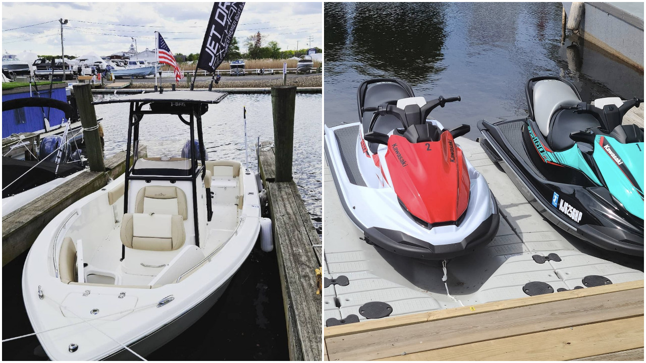 Some of the boats and jet-skis offered at the Jet-Drive Boat & Jet-Ski Club, Brick. (Supplied Photo)