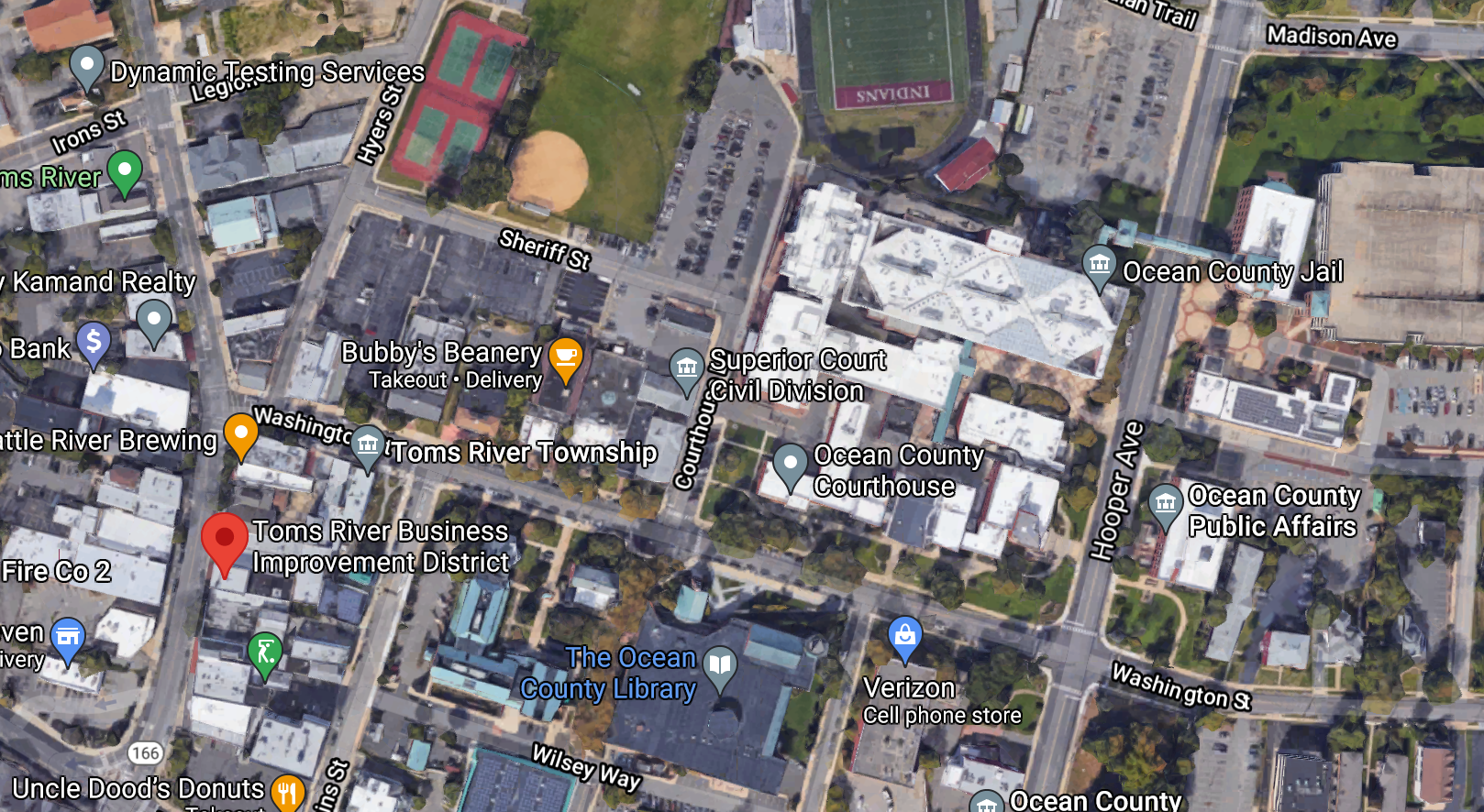 Washington Street, Toms River, N.J. (Credit: Google Maps)