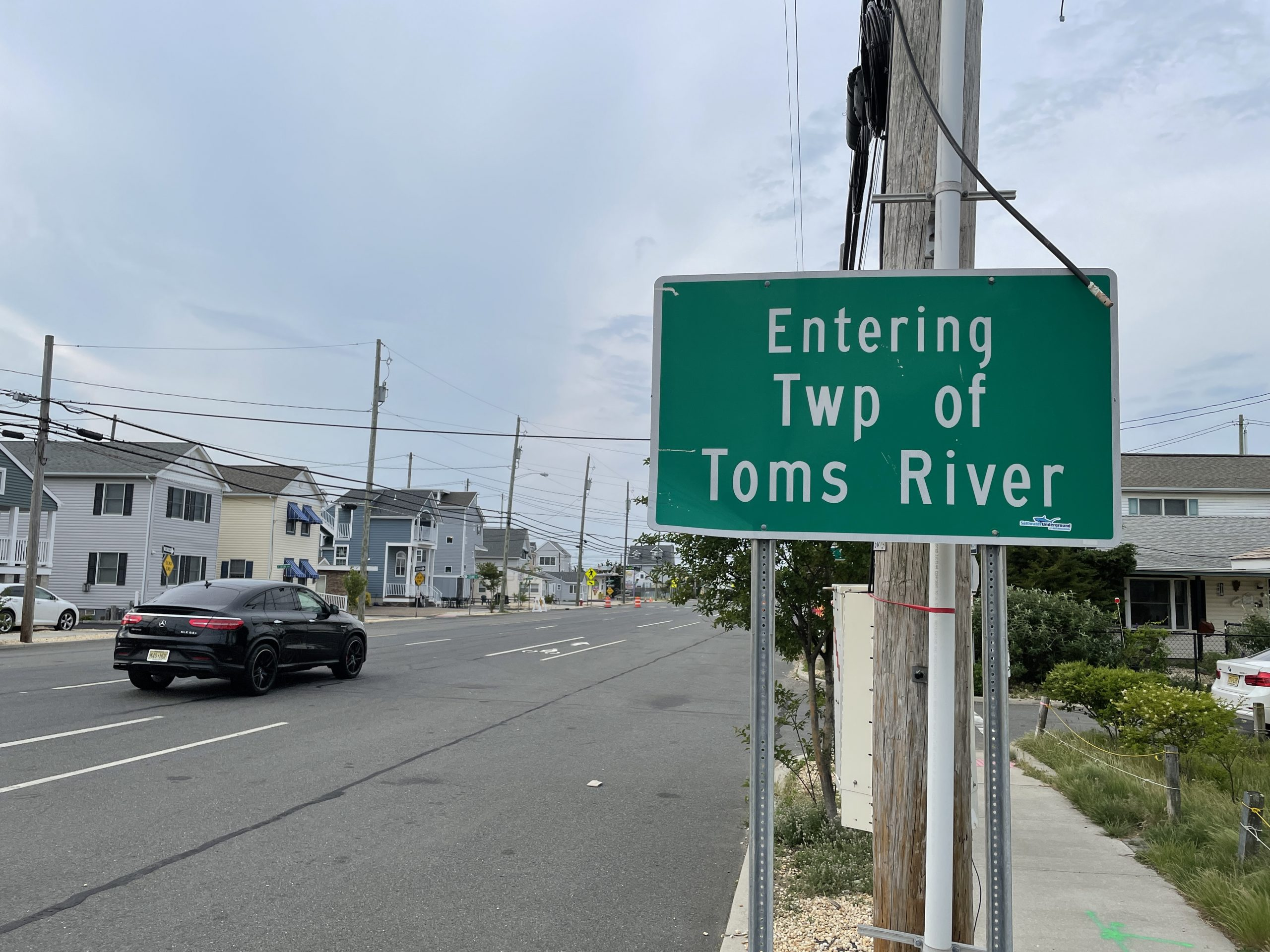 The entrance to Toms River's North Beach portion from Lavallette, on Route 35 north. (Photo: Daniel Nee)